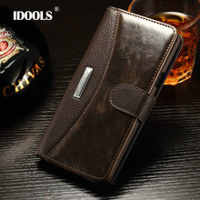 IDOOLS Brand Luxury Wallet Style PU Leather Case For Samsung Galaxy S6 S6 Edge Cover Vintage