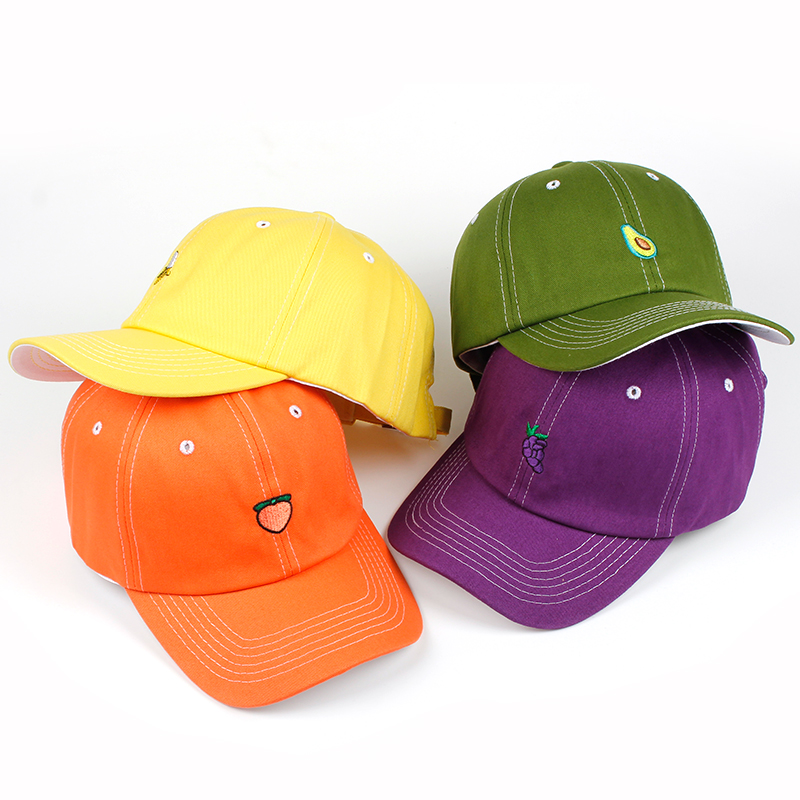 2018 New Spring Fruit Fresh Cute Lovely dad hat Girls Youth Baseball Cap Hat Summer Lovely green Orange Purple Yellow Caps