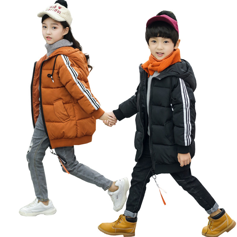 Jacket for Girls Boys 2018 Fashion Winter Hooded Down Outerwear Boys Warm Thick Coat Kids Clothes Snow Wear Snowsuit Parka kids winter jacket for girls boys long design hooded down jacket duck down padded warm outerwear coat children snow wear