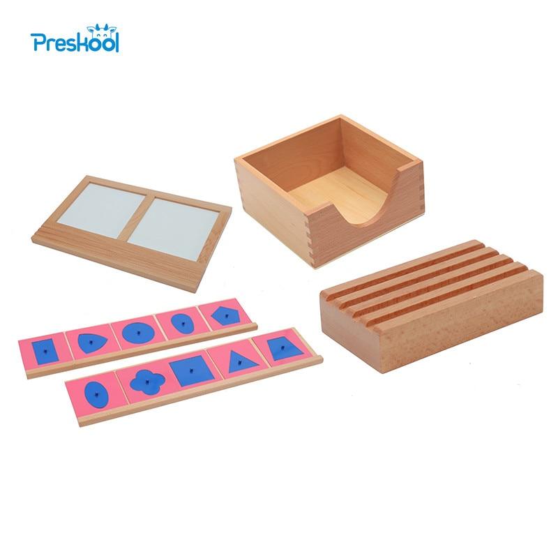 Bébé Jouet Montessori Métal Encarts avec 2 Supports Porte-Crayon Encart Méta Support Traçage Plateau Brinquedos Juguetes