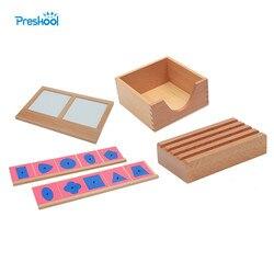 Dinosaurio bebé Montessori juguete de Metal piezas con 2 lápiz titular pieza Meta soporte de bandeja Brinquedos Juguetes