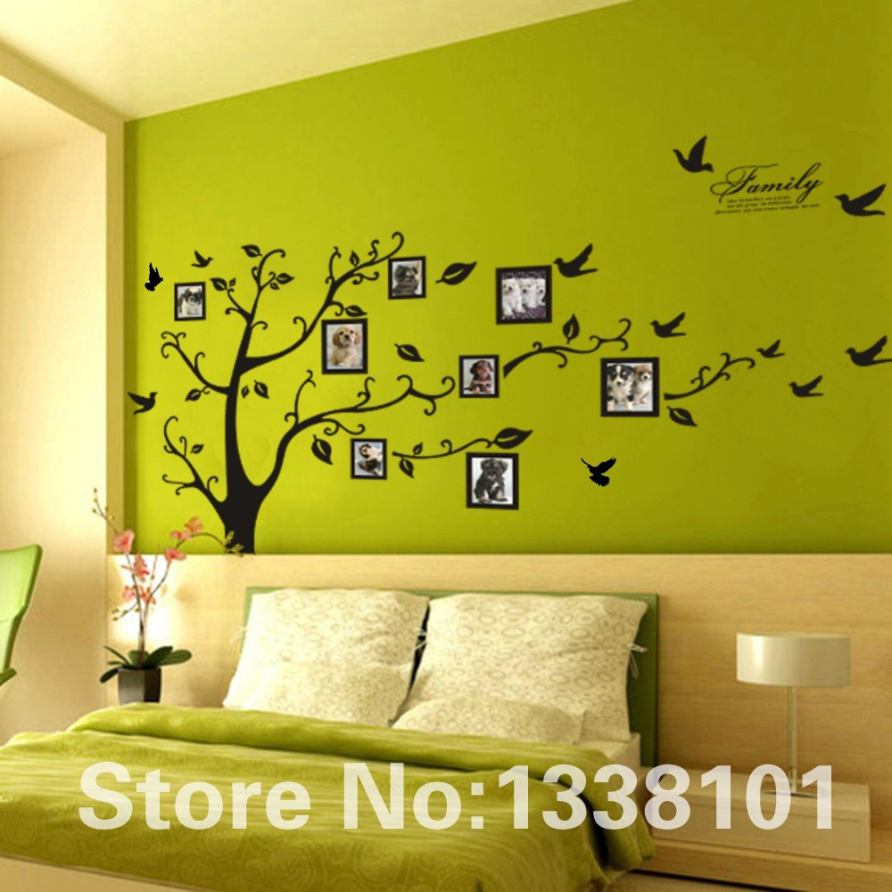 HTB11KHTKXXXXXbQXFXXq6xXFXXXM - Free Shipping:Large 200*250Cm/79*99in Black 3D DIY Photo Tree PVC Wall Decals/Adhesive Family Wall Stickers Mural Art Home Decor