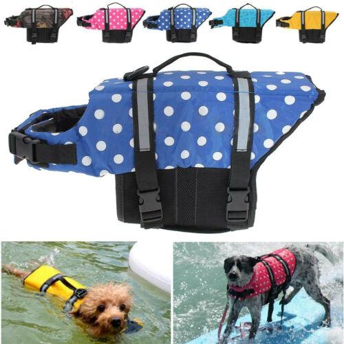 Pet Dog Cat Saver Life Jacket Vest Reflective Preserver Aquatic Sailing Cute Self Defense Supplies