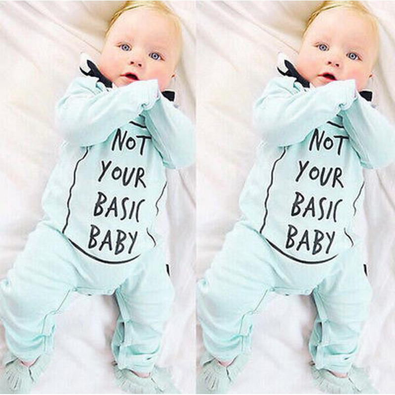 High quality boys girls printed moon dot letter long sleeve rompers fashion autumn infant cotton overalls newborn jumpers 17J701