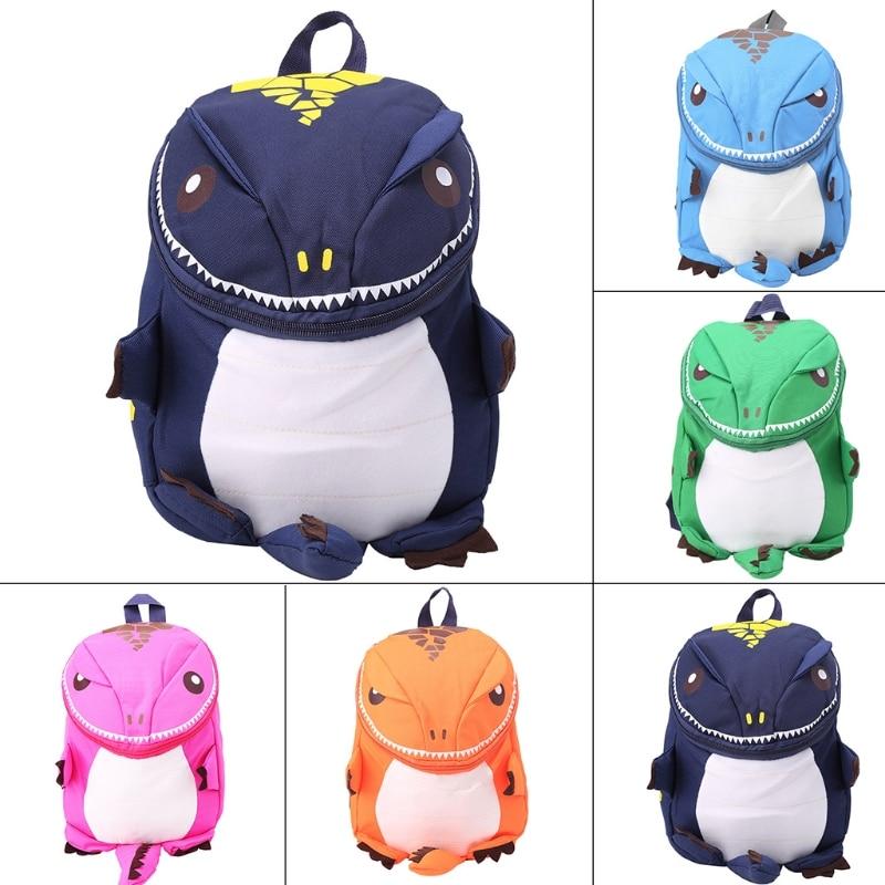 Cute Kid Toddler Backpack Kindergarten Schoolbag 3D Cartoon Dinosaur Animal Bag