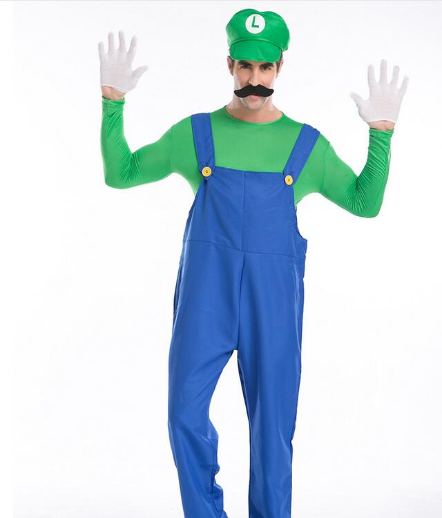 Hot Party Cosplay Costume Mario And Louie Bros Halloween -9362