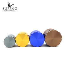 New style personality, fashion and lack of corners, 4-layer tobacco grinder, 63mm removable easy to clean