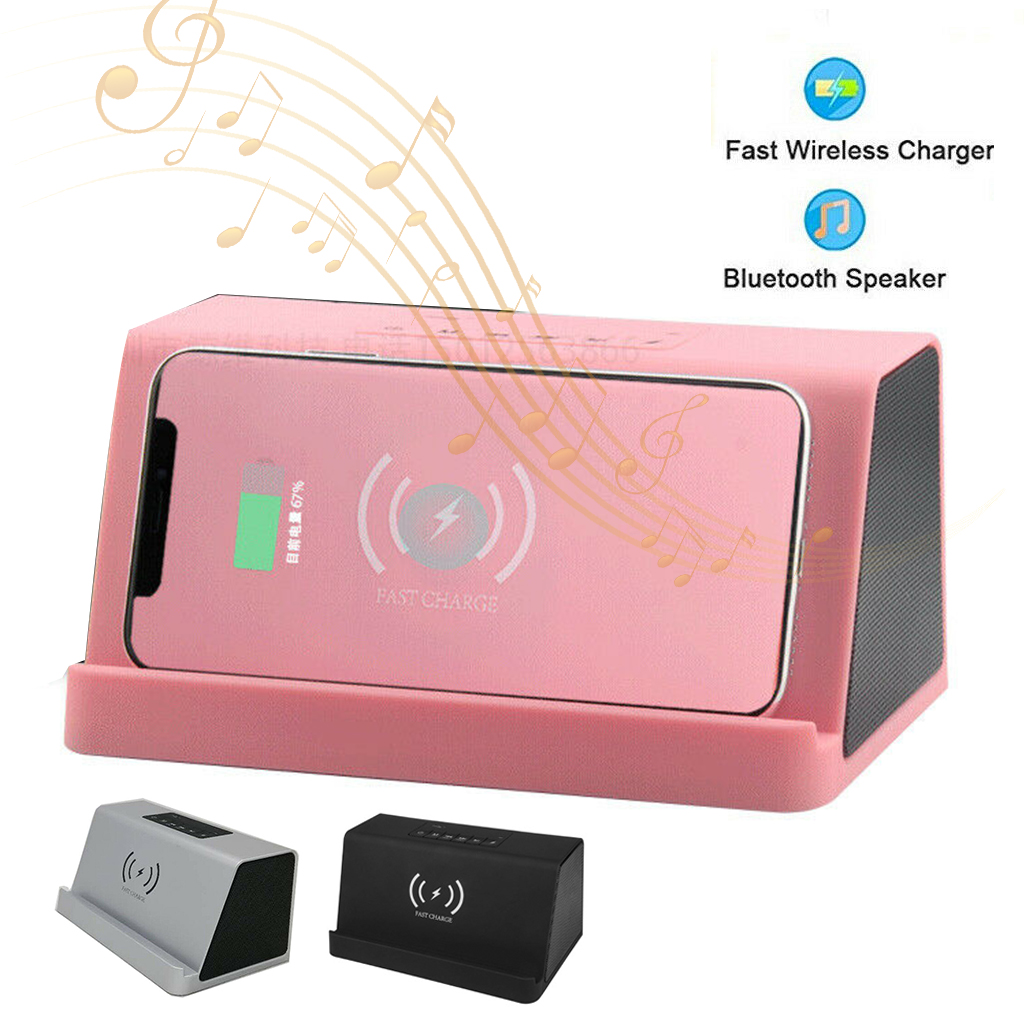 Bluetooth Speaker Wireless Charger Power Bank Portable Woofer Smart wireless charging speaker support TF card with Mic Hand free in Portable Speakers from Consumer Electronics
