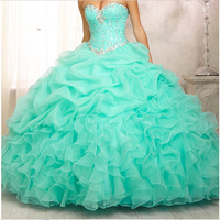 Quinceanera Dresses 2014 NewBall Gown Floor Length Sleeveless Sweetheart With Beaded Stock Dress Size 4 6