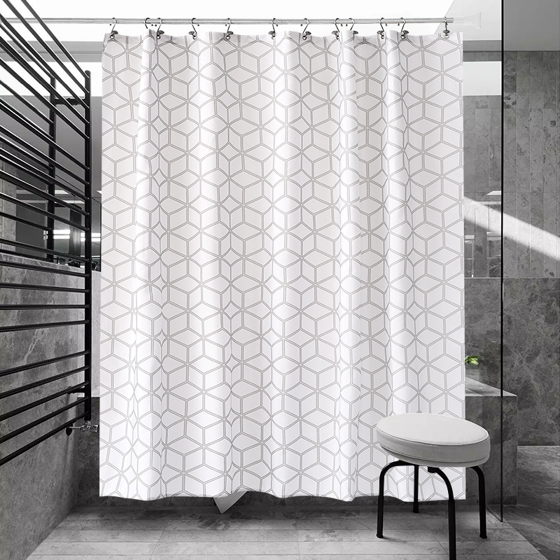 Black And White Polka Dots Geometric Shower Curtain Polyester Waterproof Thickened Bathroom Partition In Curtains From