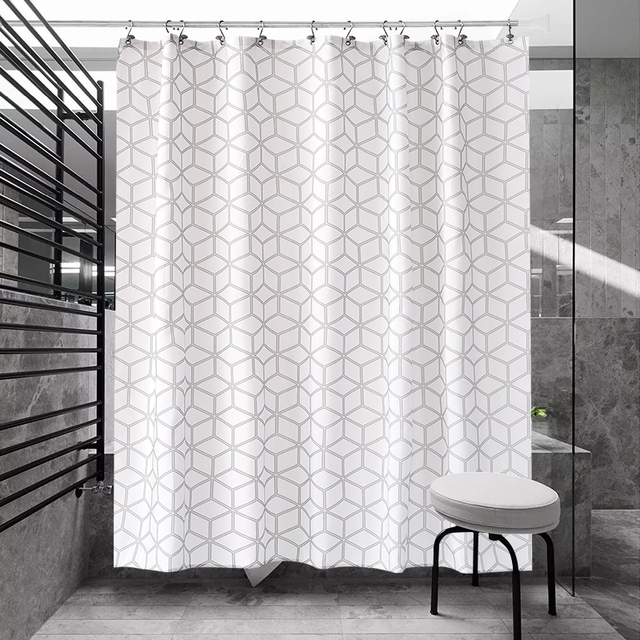 Black And White Polka Dots Geometric Shower Curtain Polyester Waterproof Thickened Bathroom Partition