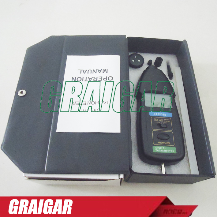 Wholesale DT2236B 2 in1 Digital Laser Photo Contact Tachometer Free Shipping dt 2856 photo touch type tachometer dt2856