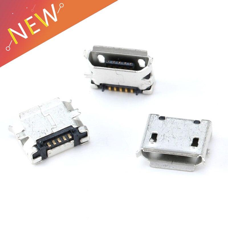 100pcs G18Y Micro USB Type B Female 5Pin SMT Socket Jack Connector Port PCB Board Charging