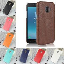 For Samsung Galaxy J2 Pro 2018 Case Luxury Crocodile PU Leather Skin Hard PC Back Cover protective Phone Case For Galaxy J250F стоимость