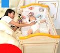 Защите окружающей среды Многофункциональный Нет Краска Дерево Колыбель Кровать Новорожденных Колыбель Шейкер Детские Кроватки Кровать С Катящегося Колеса