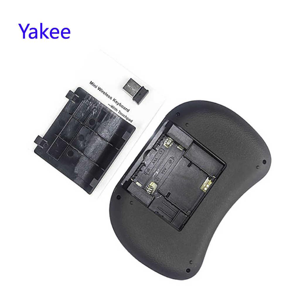 I8 Keyboard 2.4G Hz Keyboard Nirkabel dengan Touchpad Fly Air Mouse Remote Control untuk Android 9.0 TV Box HK1 Max h96 Max X88 Pro