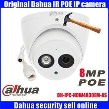 Dahua DH-IPC-HDW4830EM-AS metal shell H2.65 Built-in MIC IR 50m 8 MP IP Camera 4K HD waterproof Network Camera IPC-HDW4830EM-AS