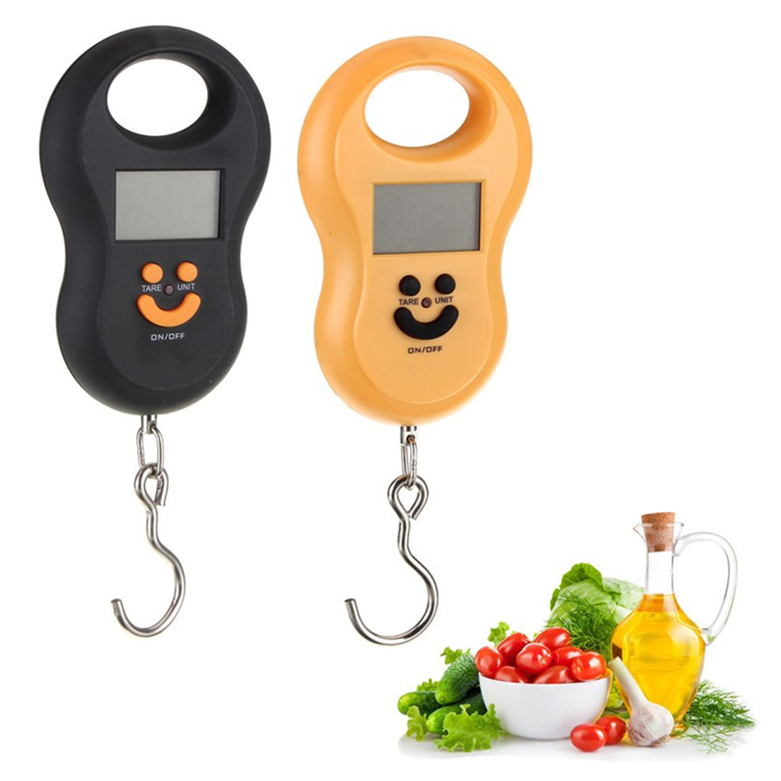 New Portable Hanging Scale 50Kg /10g LCD Digital Blue Backlight Fishing Pocket Weight Luggage Scales Color Random