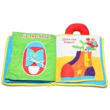 12 pages Soft Cloth Baby Boys Girls Books Rustle Sound Infant Educational Stroller Rattle Toys For Newborn Baby 0-12 month New