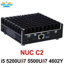 Причастником Алюминий сплава без вентилятора NUC Мини-ПК с I3 4010U I3 4030U I5-5200U I5 5300U I7 4602Y i7 5500U процессор