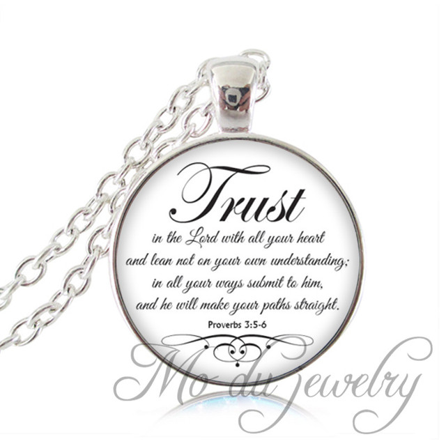 Trust In The Lord Proverbs 35 6 Bible Spiritual Pendant Necklace
