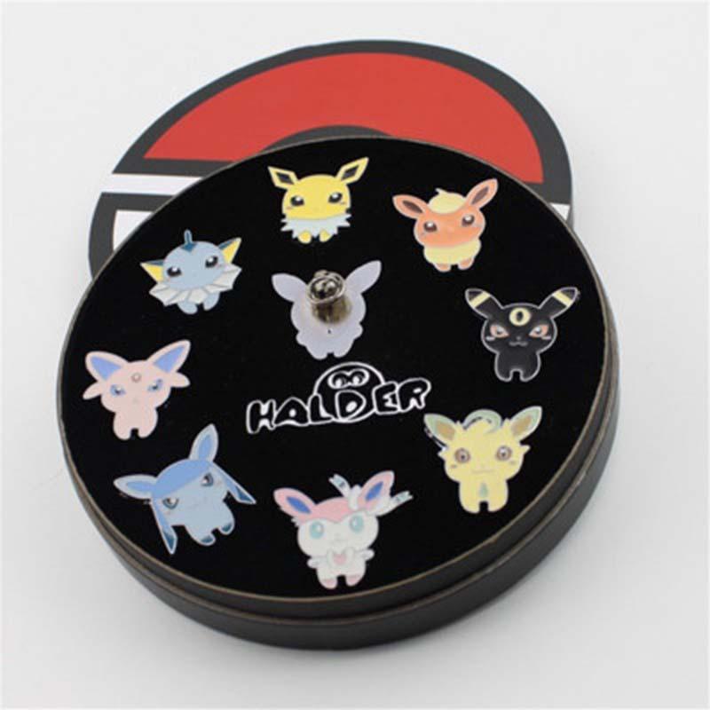Box Set Pokemon Alloy Badges Anime Peripheral Pokemon Brooch League Region Orange Islands Pins Brooches New In Box Set Gift