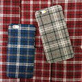 Fashion Scottish plaid grid cloth Plastic Cover For iPhone7 7plus 6 6s 6plus 5 5s SE Back Case