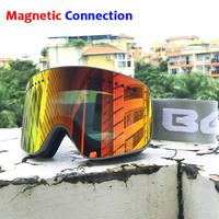 Ski Goggles with Magnetic Double Layers Lens Skiing Anti fog UV400 Snowboard Goggles for Men Women Ski Glasses Eyewear
