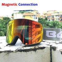 Ski Goggles with Magnetic Double Layers Lens Skiing Anti fog UV400 Snowboard Goggles for Men Women Ski Glasses Eyewear