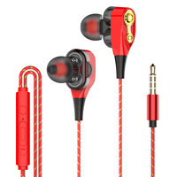 computer cell phone Fanshu 3.5mm Wired High bass Dynamic stereo In-Ear Earphones With Microphone Computer earbuds For Cell phone fone de ouvido (3)