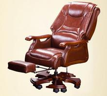 Boss chair dermis can lie massage big class chair solid wood swivel chair computer chair home lift office chair