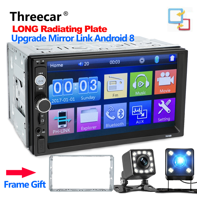 Newest Autoradio 2 Din android mirror link car radio player car bluetooth audio universal auto Stereo support camera free gift