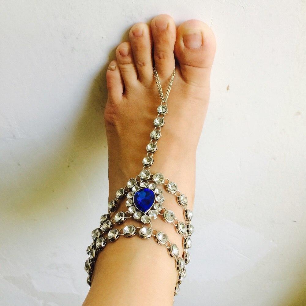 Barefoot Sandals Foot Jewelry Something Blue Wedding Gift Wedding
