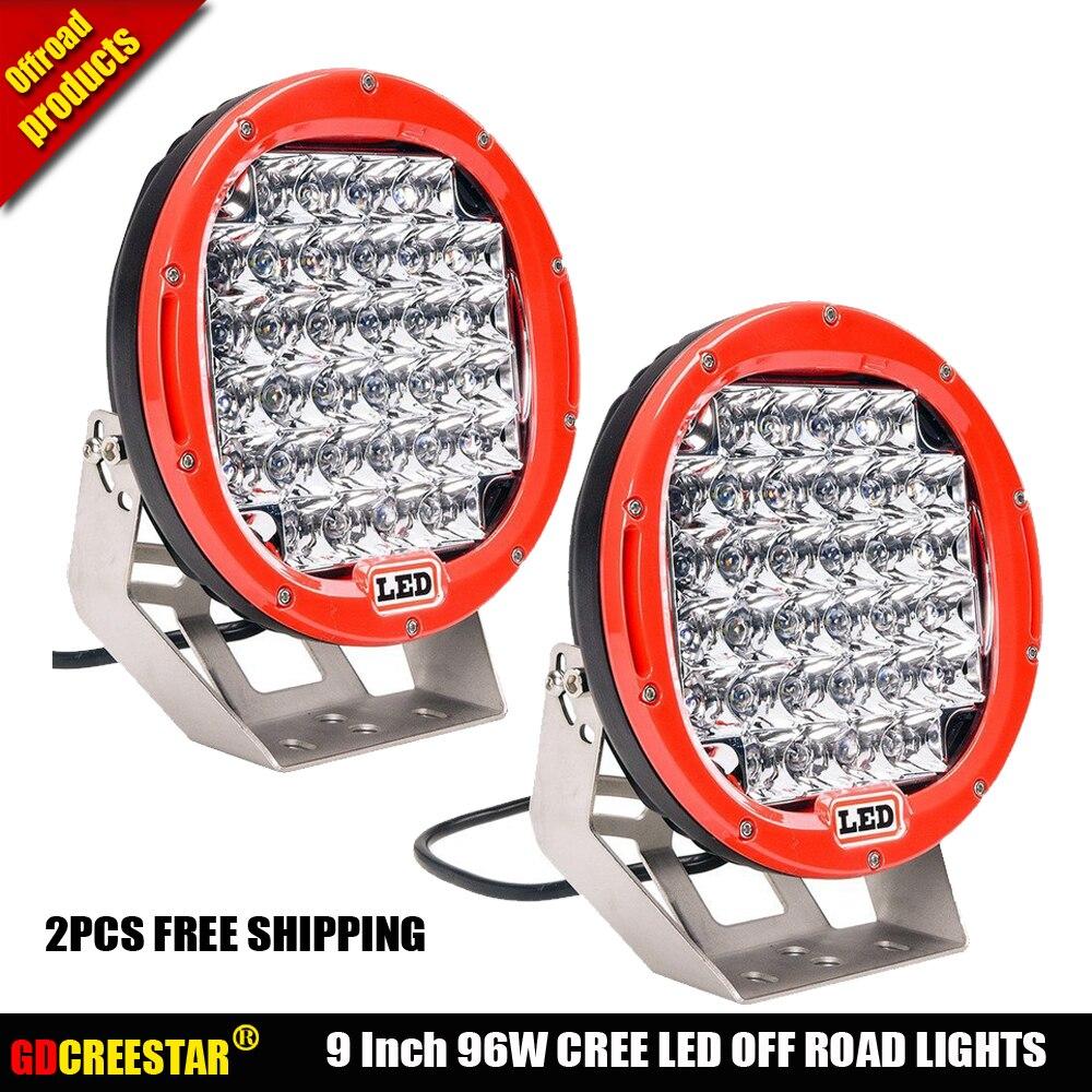 9 дюймов Сид работая свет водить 96w грузов на легком бездорожье проектор фары Автомобильный пятно лампа для внедорожников бампер свет x2pcs бесплатная доставка