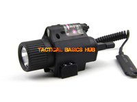 Tactical M6 Red Laser Weapon Flashlight 180lumens 650nm Tactical Flashlight CR123 Power Free Shipping SKU12020043