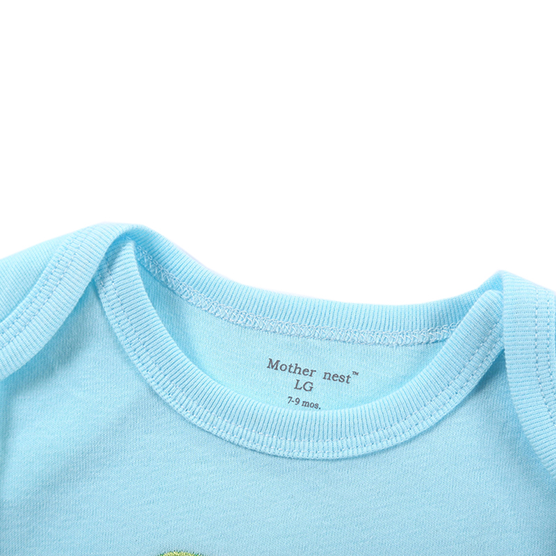 Newborn Baby Bodysuit Mother nest 2017 New Style Short Sleeve Print Little Ship Body Rope Bebe Boys Girls Clothes  (7)