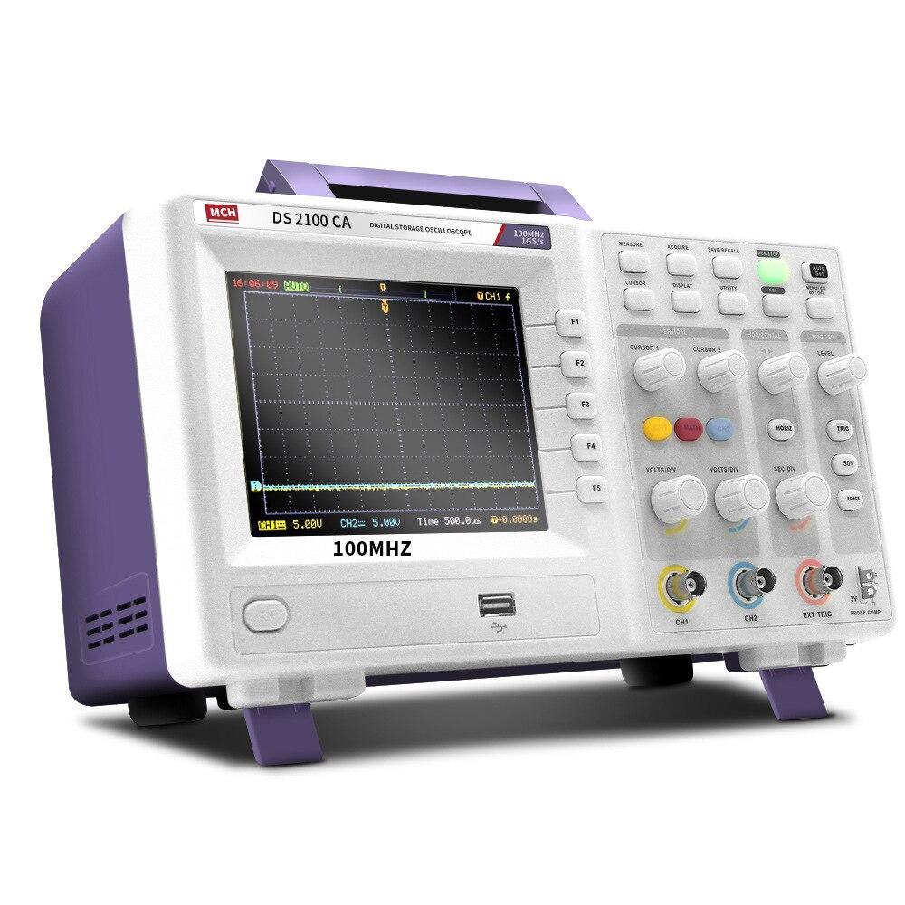 MCH цифровой осциллограф хранение осциллограф двухканальный осциллограф выборка 1G 100MHZ DS-2100CA - Цвет: DS-2200CA 200MHZ