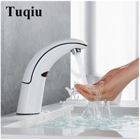ABS Bathroom Sink Faucet Basin Faucet Automatic Sense Mixer Touch Free Sense white Faucet Automatic Hands Tap fashion
