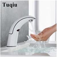 ABS Bathroom Sink Faucet Basin Faucet Automatic Sense Mixer Touch Free Sense white Faucet Automatic Hands Tap fashion