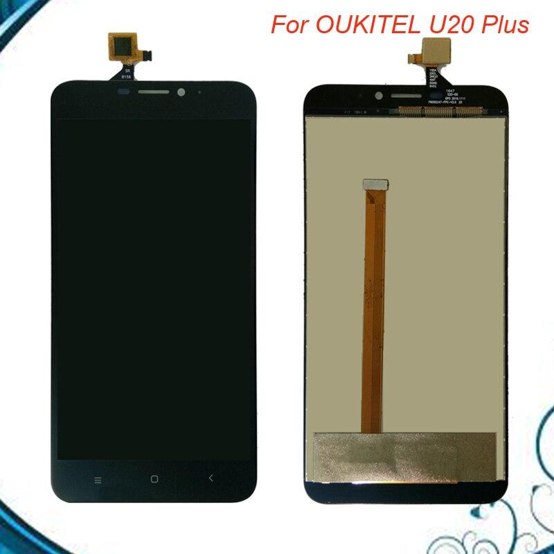 Pour Oukitel U20 Plus Ecran lcd + Écran Tactile 100% Testé LCD Digitizer Verre de Remplacement Du Panneau Pour U20 Plus