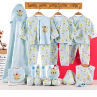 19 piece newborn baby set boy clothes 100% cotton infant suit baby girl clothes outfits pants baby clothing hat bib ropa de bebe