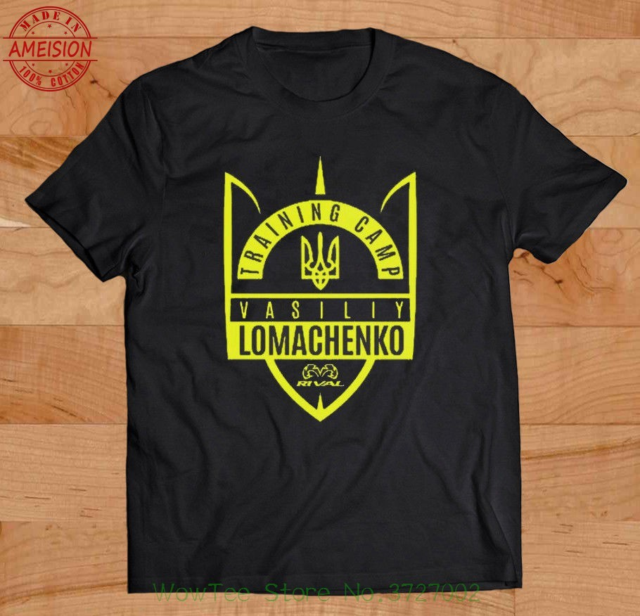 Inspired Vasyl Lomachenko Ukranian Boxer Black Design T Shirt 2019 Summer New fashion brand funny Tops Tee shirts For Men in T Shirts from Men 39 s Clothing