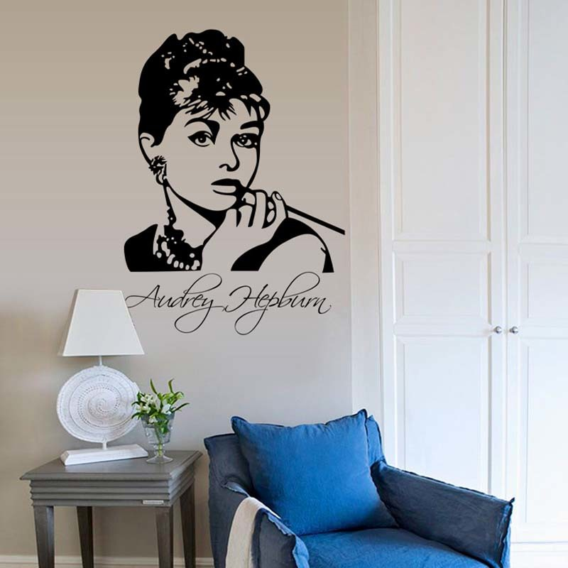 Audrey Hepburn Wall Art compare prices on audrey hepburn wall decal- online shopping/buy
