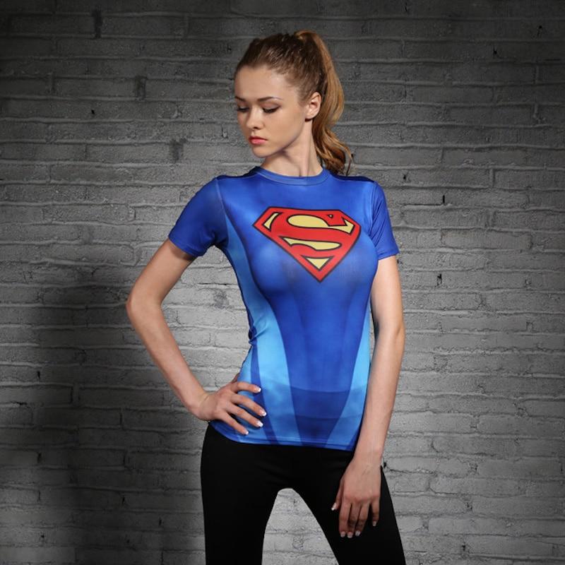 c3b9e59a0 New Women Superman Tops Shirts Compression T Shirt Superhero Fitness Tights  Under Tees Camiseta Feminina-in T-Shirts from Women's Clothing on  Aliexpress.com ...