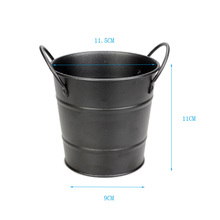 Stainless Steel Double Ear French Fries Baskets Food Bucket Dinnerware Tableware Pail Multi – Purpose Baskets Snack Barrel New