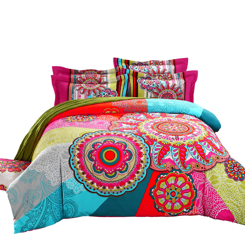bohemia duvet cover set winter duvet cover bedsheet Pillowcase 4pc bedding sets full queen king size