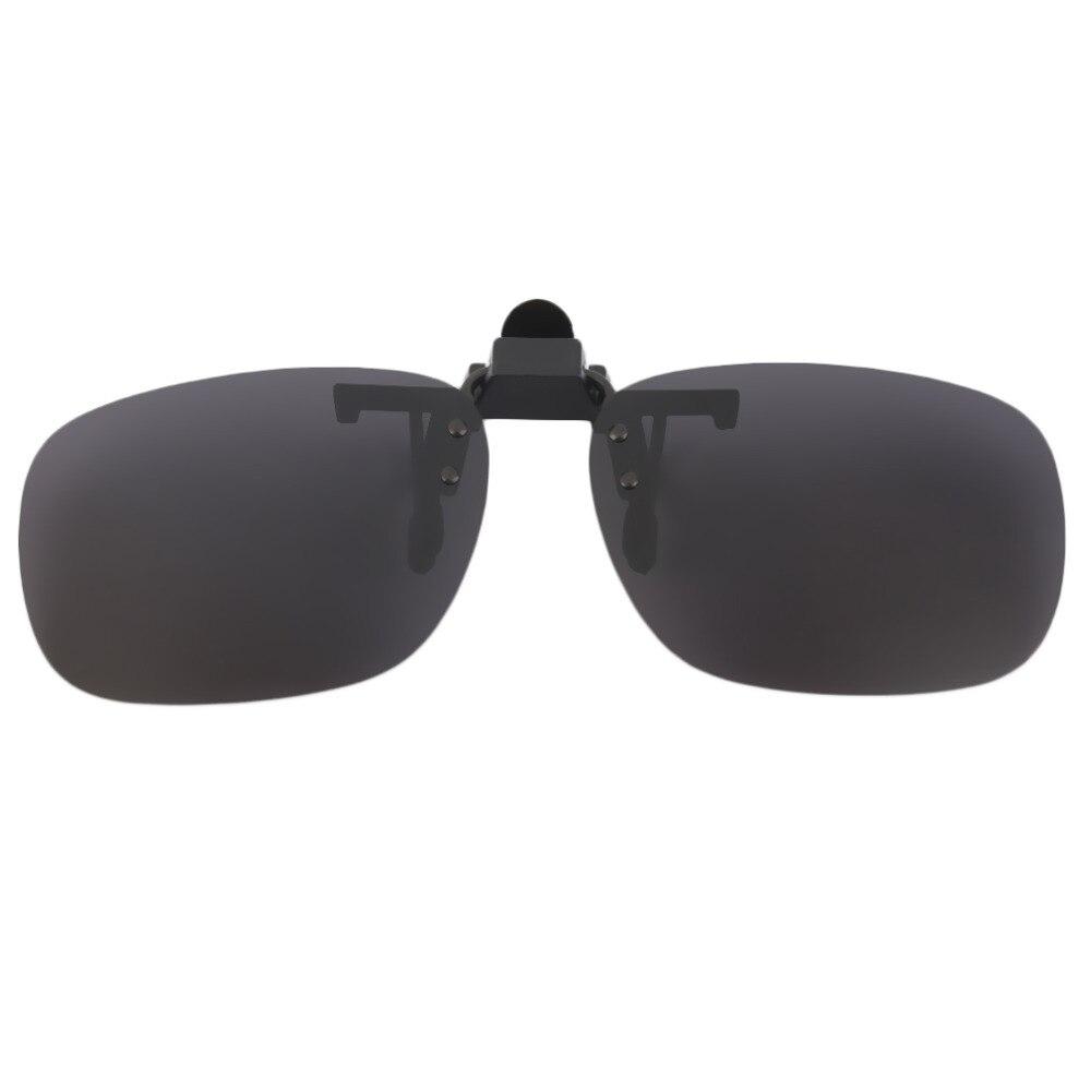 Polarized Clip On Sunglasses UV 400 TAC Plastic + Metal Clip-on Flip-up Driving Glasses lens Black/Brown Color Sunglasses