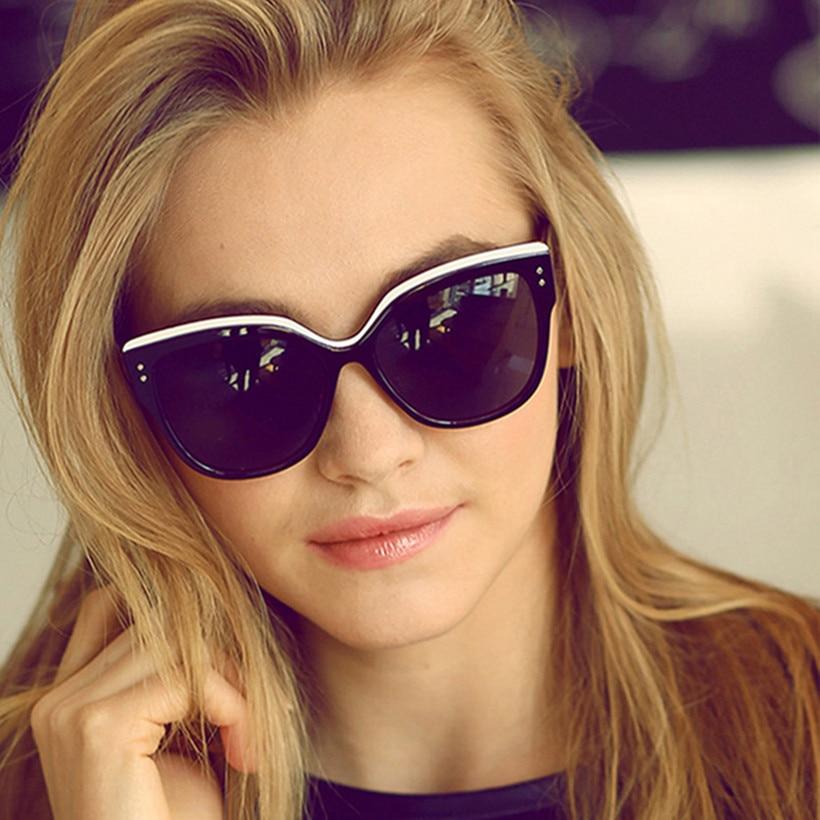 YOOSKE Cat Eye Sunglasses Women Brand Designer Eyebrows Mirror Sun Glasses Butterfly Eyeglasses Vintage Eyewear Female UV400