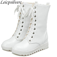 womens boots high heeled boots in the short spring and autumn autumn single Korean fashion boots Martin boots white