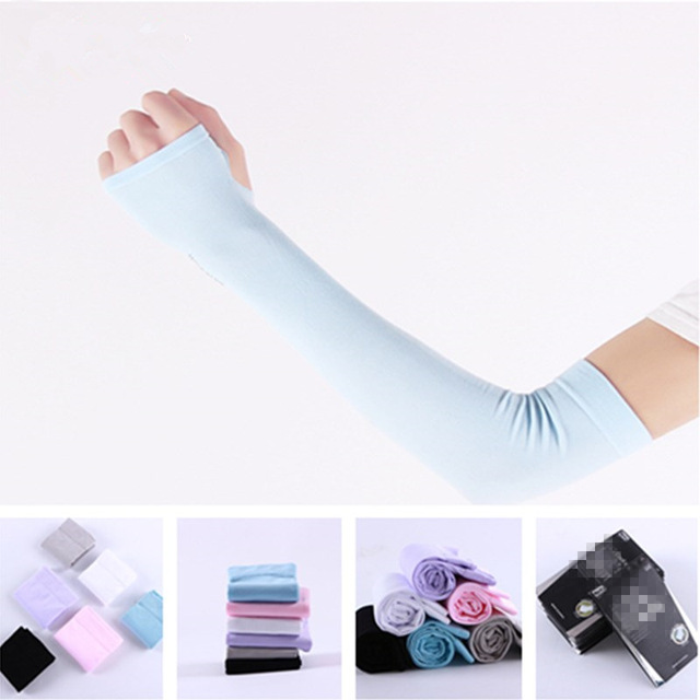 Arm Sleeve Cycling Cooling Ice Arm Warmers Summer MTB Bike Bicycle Sleeves Armwarmer Ridding Golf UV Protection Cuff Sleeves